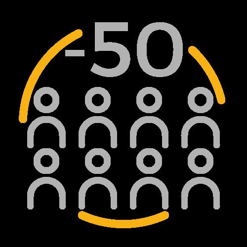 Principalement – de 50 salariés